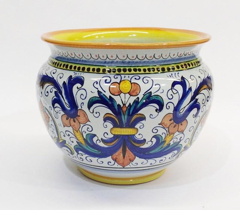 Portavaso cache-pot Ricco Deruta Ø34 Ceramica dipinta a mano ...
