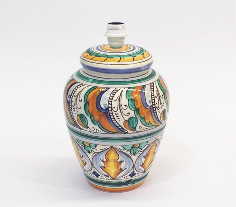 Lampada Vario Deruta Ceramica dipinta a mano Ceramiche Ficola Outlet