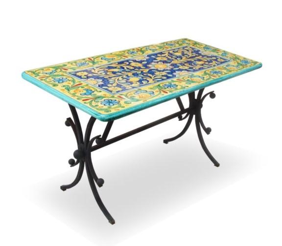 Tavoli Da Giardino Con Piano In Ceramica.Ceramica Deruta Per Giardini