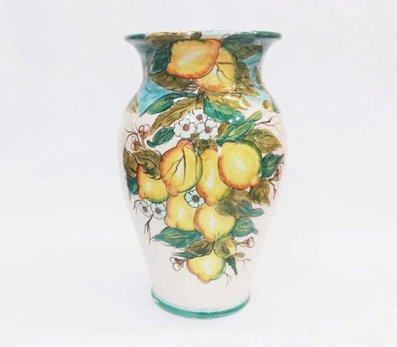vaso portaombrelli in ceramica limoni