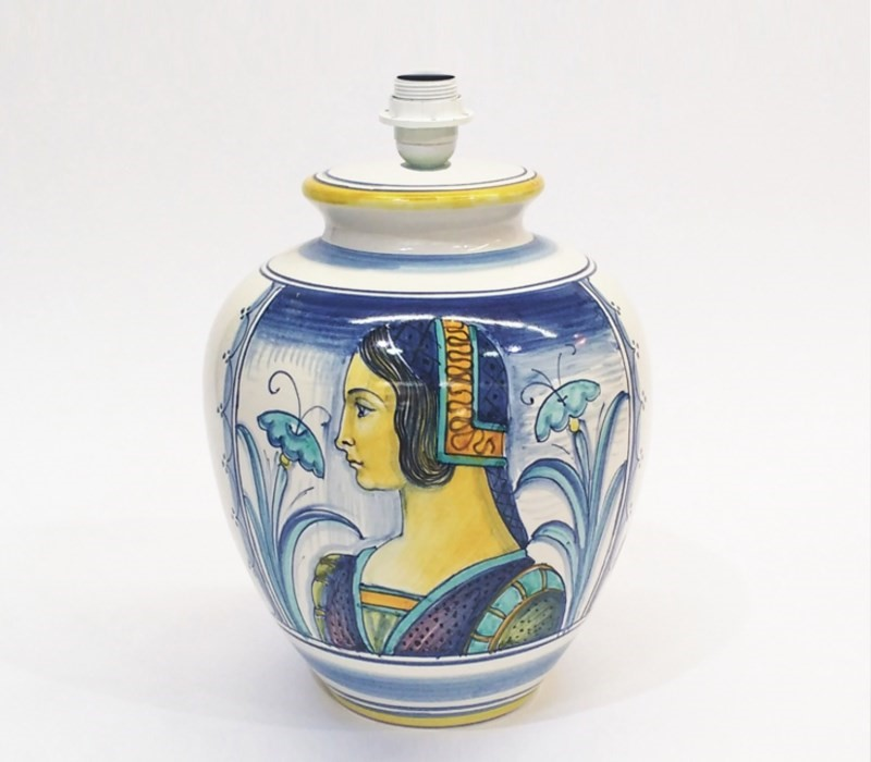 lampada ceramica deruta